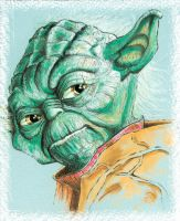 Yoda Sketch Star Wars by JohnHaunLE