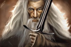Gandalf - speedpainting by Tomtaj1