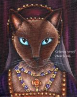 Catherine Howard Cat by TaraFlyArt