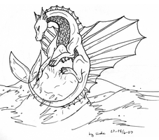 Dragon lineart by Dinaria