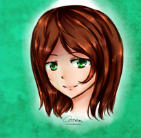 [Commission] Bright Green Eyes by CorenB