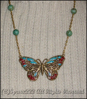 Altered Butterfly Necklace by sparx222