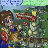 Renekton and Garen in the same line by ChibiWendy