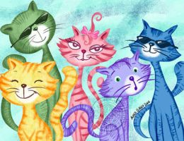 Cats, gatos by aurangelica