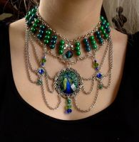 Royal Peacock Collier by xNatje