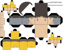 Sosuke-Ponyo Cubee Template by anotherbrickmore