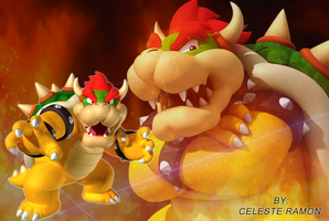 Mario Bros: Bowser cool by celtakerthebest