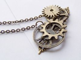 Steampunk Gears Necklace by ms-pen