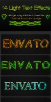 14 Light Text Effects by hazratali2020