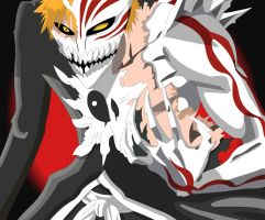 Half of fully hollow ichigo :3 by Mifang