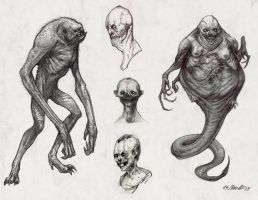 Monster Sketches by JSMarantz