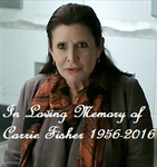 In Loving Memory of Carrie Fisher by TrevLafoe