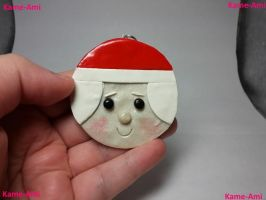 Mrs. Santa Clause Ornament by Kame-ami
