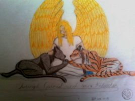 Gabriel and the cat's by Sheena66