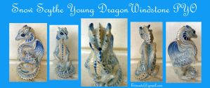 Snow Scythe Young Dragon Windstone PYO by Eviecats