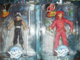 Hiei and Kurama action figures by HieiSQueen