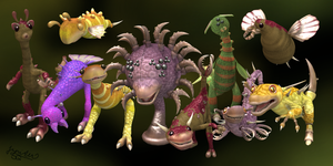 My Spore creatures by Jupiter-SG