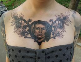 Portrait of her mother by viptattoo