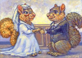 Squirrel Bride and Groom by blindedangel
