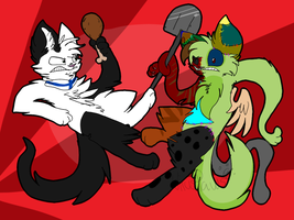 Epic fight {drawing raffle} by xCandyGearx