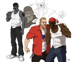 Demo and Solly sketches by KRedous