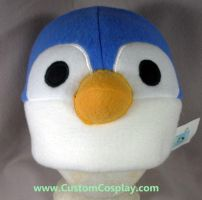 Blue and white penguin hat by The-Cute-Storm