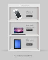 Product Showcase PSD by cssauthor