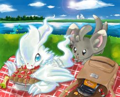 Reshiram and Chillarmy by Nahlarys