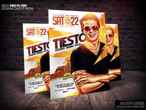 Spring Break DJ Flyer Template PSD by Industrykidz