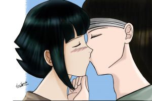 Neji X Hinata -Colored kiss- by Lux-Yoruichi