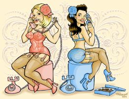 Girls on the Phone by paigey