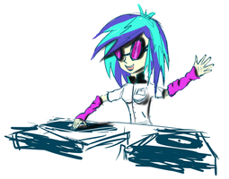 Vynil Sketch (coloured) by SpaceHunt