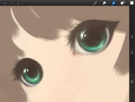 WIP - Eyes Painting...Practice..... by TashaChan