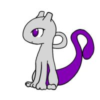 Mewtwo kitty? by livinlovindude
