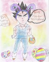 Vegeta easter bunny by sapphireQueen