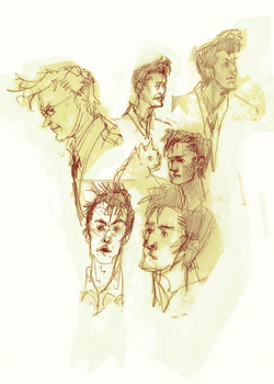 Doctor Who faces by alphabet-takeout