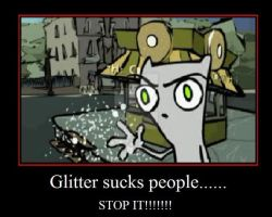 Foamy: Glitter Is bad.... by Rozen-Shield