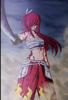Erza Scarlet -  ''I'll not give up!!'' by Ric9Duran