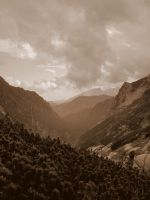 mountains in sepia by Rivenna