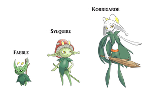 [Collab] Elven Knight fakemon 2.0 by AlphaXXI