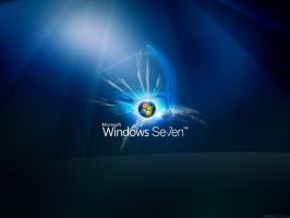 Windows Seven Glow Wallpaper by dj-corny