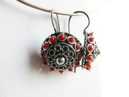 patinated silver old fashion earrings by irineja