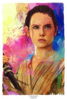 Rey The force Awakens by j2Artist