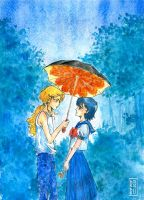 Under an umbrella by Rei-Helen