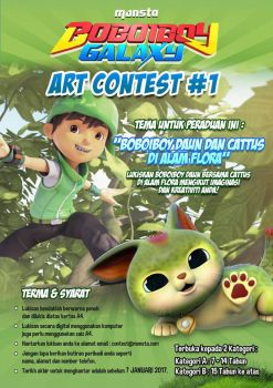 BOBOIBOY : ART CONTEST #1 by Xierally
