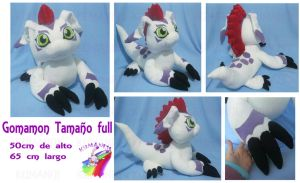 Gomamon real size plush by chocoloverx3