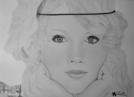 Drawing - Taylor Swift by Monique-Art