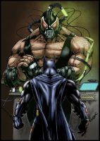 Batman vs Bane Colors_ 01 by MARCIOABREU7