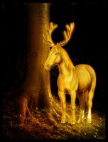 The Golden Stag by CoolCurry