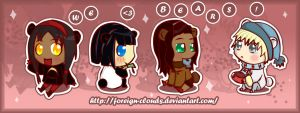 chibi bears :D by foreign-clouds